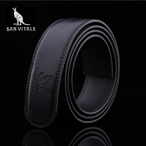 Genuine leather belt body mens leather cattle leather automatic belt belt no head belt body cattle leather belt pants belt package