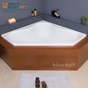 Acrylic Acrylic bath tub Double triangle bathtub sunken bathtub temperature water delivery