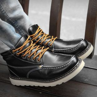 Winter high shoes everyday Korean men s wild British fashion trend of increased wild youth leisure plate shoes