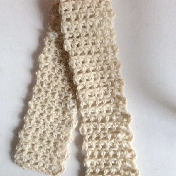SD BJD baby clothes 3:4:6 break up pure wool scarf Beige