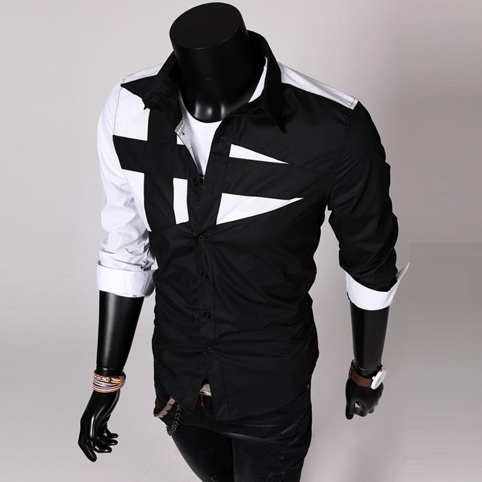 Aliexpress внешней торговли 2015 новых мужчины отдельные строчки мужчины с длинным рукавом рубашки мужские рубашки повседневные бизнес