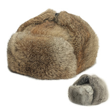 The rabbit fur earmuffs lei feng's cap leather fur male northeast winter cotton more middle-aged and old man old hat