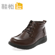Shoebox/shoe new classic leather lace and velvet casual boot easy round Europe and the wind man boots