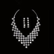 Honey marriage wedding necklace necklace chain set necklace earrings set-