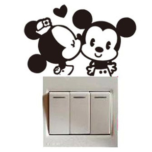 Home home creative small rodents switch stickers decorative wall stickers wall socket stickers for you to add vitality