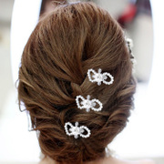 Good Qiao Qiao beauty bridal tiaras wedding dress accessories and makeup styling Hair Studio hair hand clamps