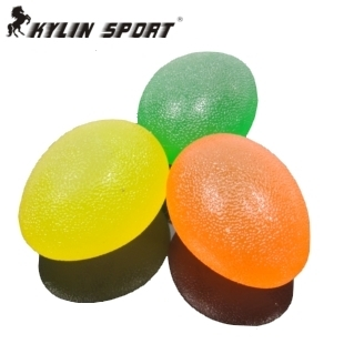 Tasteless green silicone massage ball Children sensory integration training equipment tactile grip prevent stroke rehabilitation