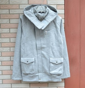 Autumn and winter sweater mens thickened Plush high collar sweater hooded cardigan leisure sports large mens fashion