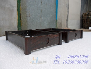 Wenge wood frame chassis square leg split type box one pair price