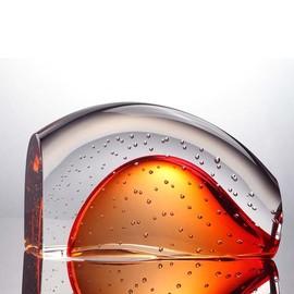 进口水晶艺术品玻璃摆件 水泡气泡透明琉璃摆设品 家居样板房装饰图片