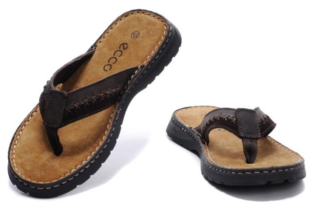 Новые иностранные мужчины летние кожаные сандалии случайные флип flops клип, перетаскивая Тапочки размер ноги (и оптовая)