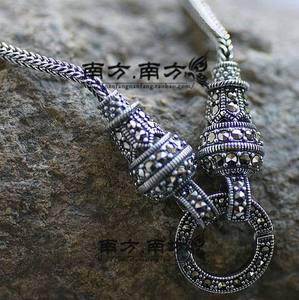 925南方南方纯银饰品老银匠手工曼谷银泰银复古各长度毛衣链项链