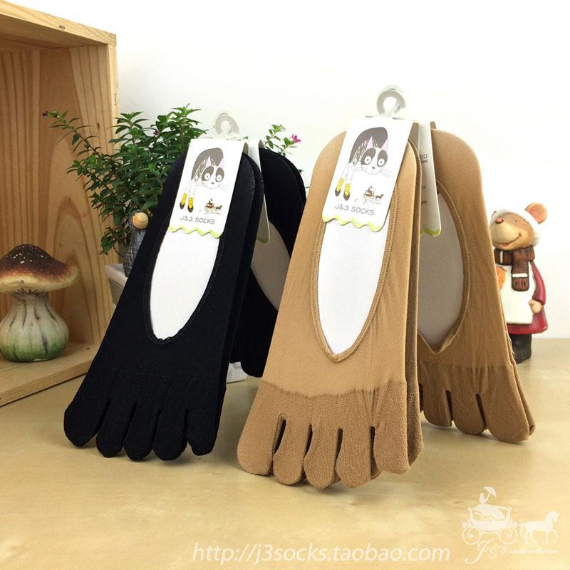 5双包邮 夏薄天鹅绒浅口五指船袜短袜超低隐形女士袜子五趾袜丝袜