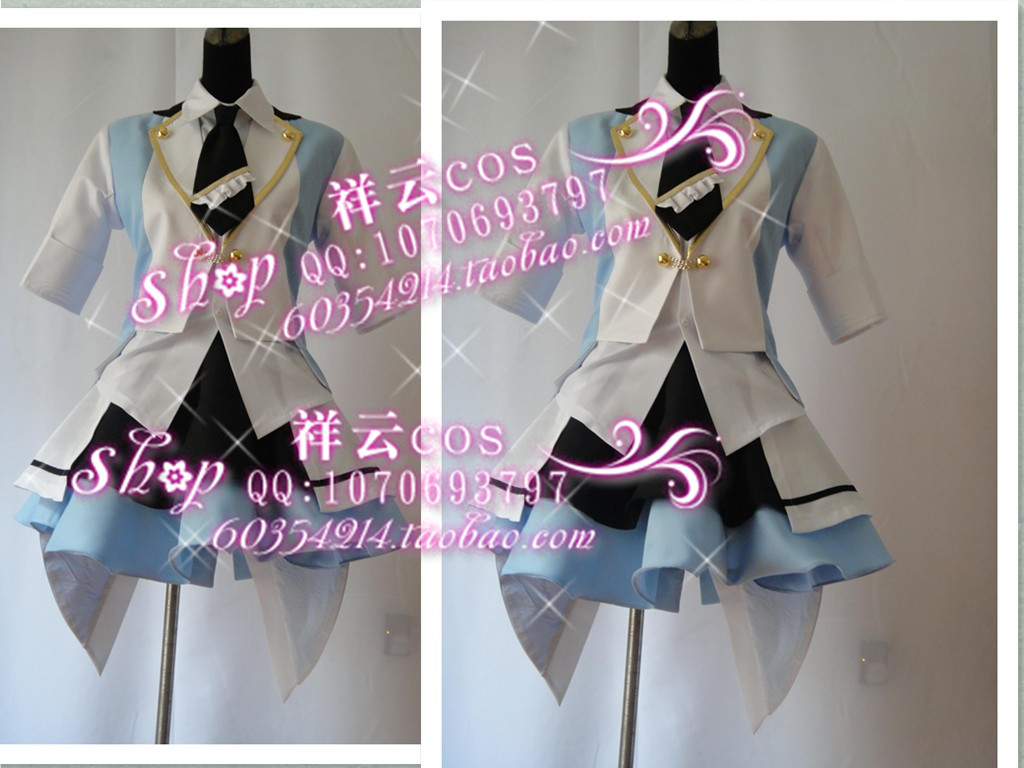 Akb0048 hit the name group blue and white version of Xiao Shuai cos