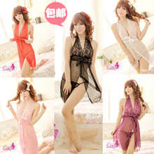 Sexy extreme temptation human sling nightgown transparent lace cute pajamas nightgown lingerie adult female summer