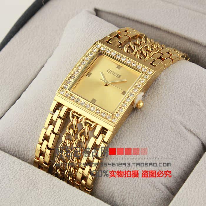 GUE часы Мода дамы горный хрусталь браслет таблицы таблица таблицы авангардном женские часы