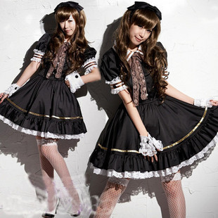 Anime cosplay maid outfit role playing dress clothing costumes dance clothing photography theme clothing photo service