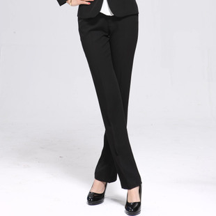 PepsiCo profit OL dress pants trousers XL Slim waist female commuter black straight jeans wear