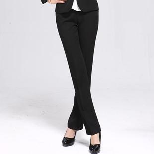 PepsiCo прибыль ПР платье брюки брюки XL тонкая талия женщины пригородных черные прямые джинсы носят