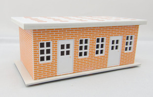 Spot Global Chinese style red brick building model houses CH81625