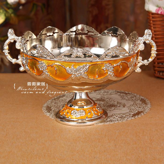 Новые высококлассные позолоченные серебро золото резинки клей плита отель КТВ рабочего мусора чаша фруктов чаша