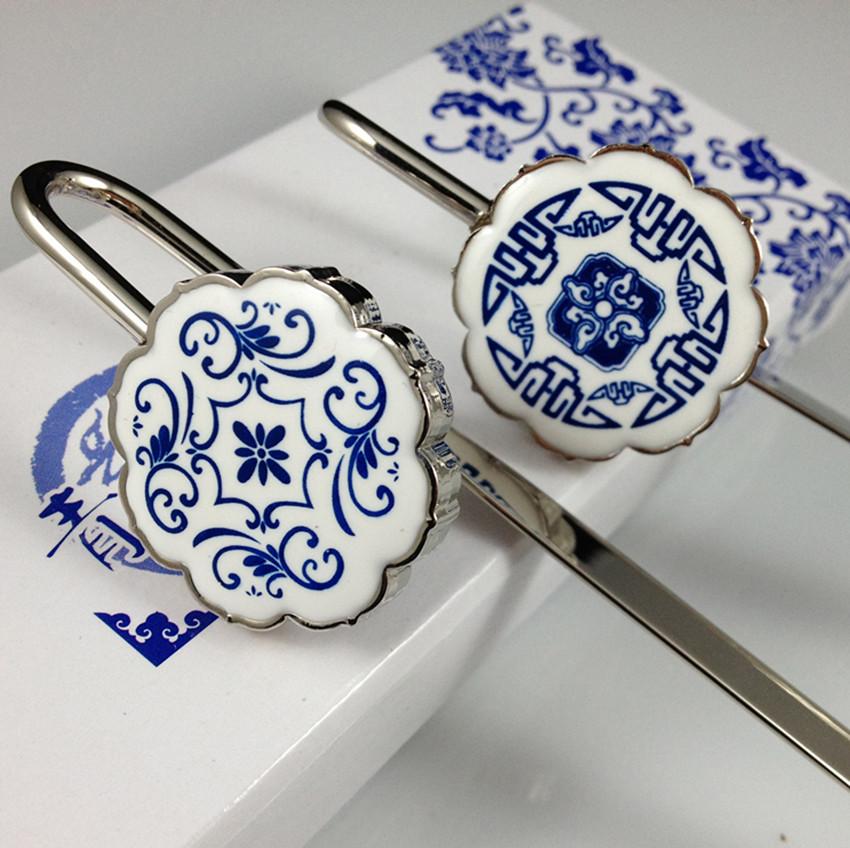 特价青花瓷吊坠书签 中国风特色外事出国商务礼品送老外礼物