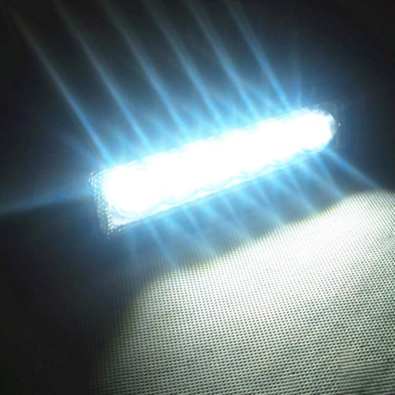 18W Светодиодные света вилочного белый вспомогательные лампа работы вспять легких внедорожников преобразован прожекторов автомобилей купола свет пакет почты