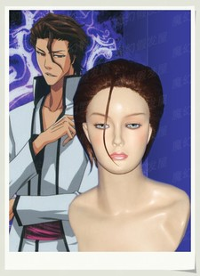 COSPLAY wig new spot high temperature wire COS anime Bleach BLEACH Aizen COS wig wig