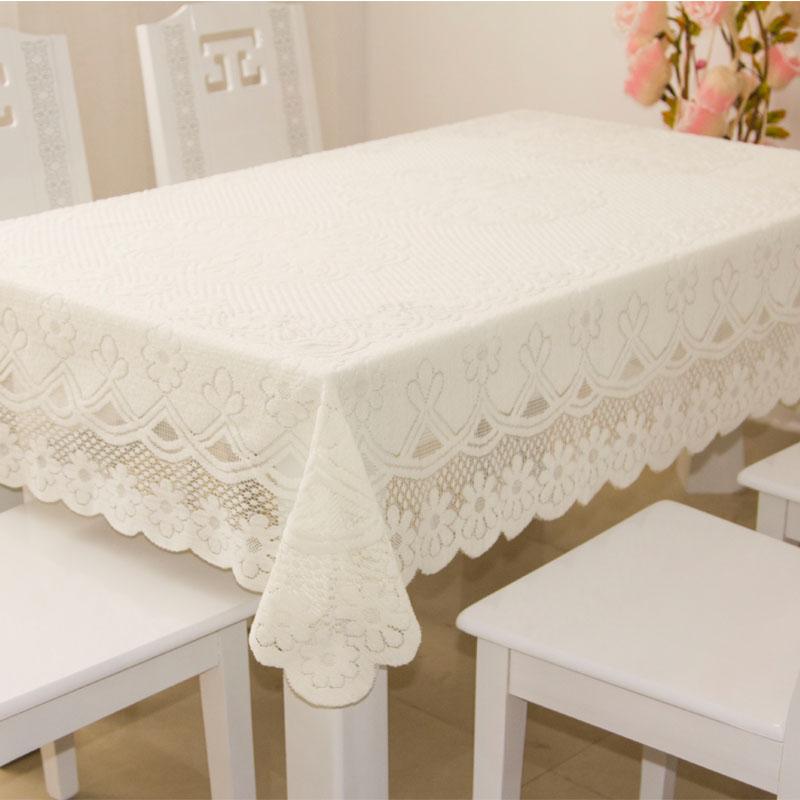 桌布檯布餐桌布田園 多用蓋布冰箱蓋布床頭罩茶几布桌墊桌套 白色