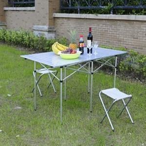 户外折叠桌子 铝合金折叠桌 便携式餐桌 展示桌 旅行桌 1.4米长桌