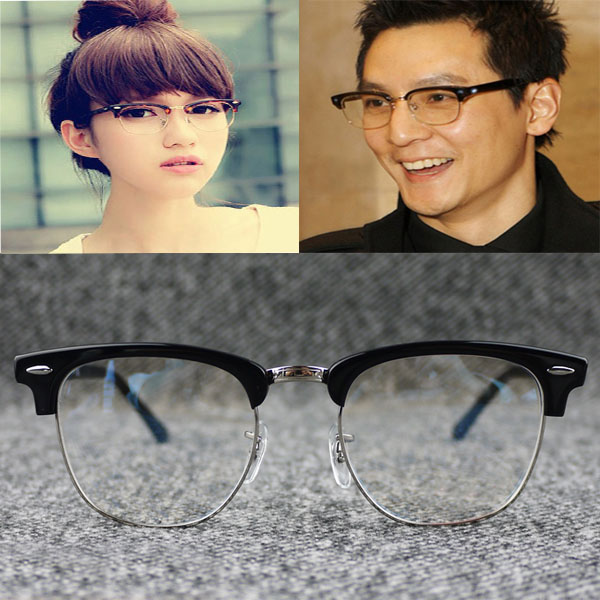 Package plate large frame versatile retro spectacle frame fashion myopia half frame spectacle frame mens and womens fashionable style with nose bracket