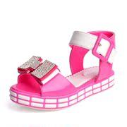 2014新款包邮韩版公主童凉鞋夏季亮面软底童凉鞋中大女童水晶凉鞋