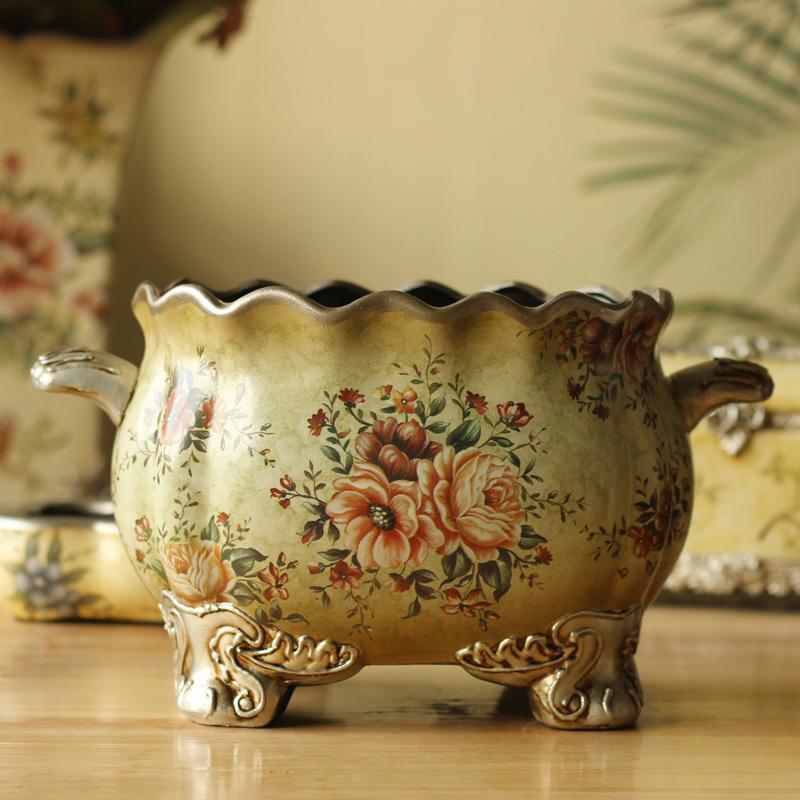 Европейский стиль сельские домашние украшения старинные цветочные цветок tuosikana четыре эллипсами Вазы керамические