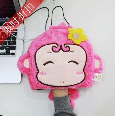 USB保暖鼠标垫 伊品堂猴子造型超萌 温暖TA一季推广免邮 买四送一