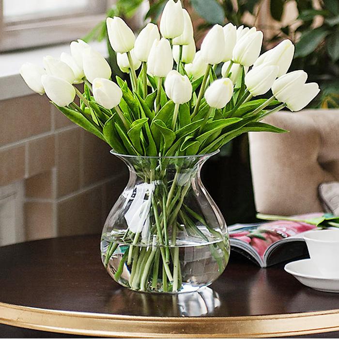 Ультра сенсорный пу мини-тюльпан искусственный цветок украшения таблицы размещены шелковые цветы искусственные цветы гостиной цвета