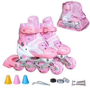 Genuine skates adjustable children s suits Full flash skate adult inline skates