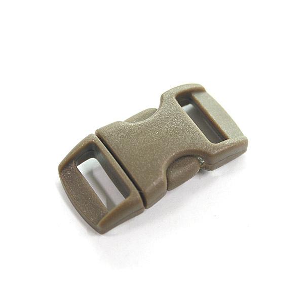箱包配件 专用插扣 伞绳手链 求生手链 扣子 狼棕色 弧形 sp-8