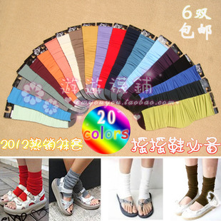 10 pairs of Japanese and Korean original single retro Toe color piles of socks candy color step foot sock shook his shoes necessary