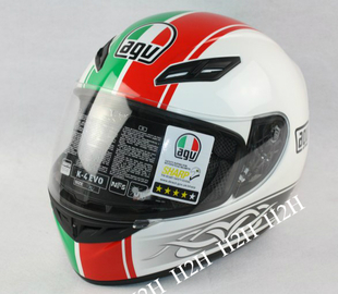 [Genuine licensed] AGV motorcycle helmet AGV K4 EVO Italian flag flower gifts anti-fog sheet