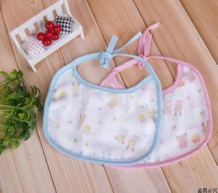 6 layers of cotton gauze Nishimatsu house baby bibs bibs bibs