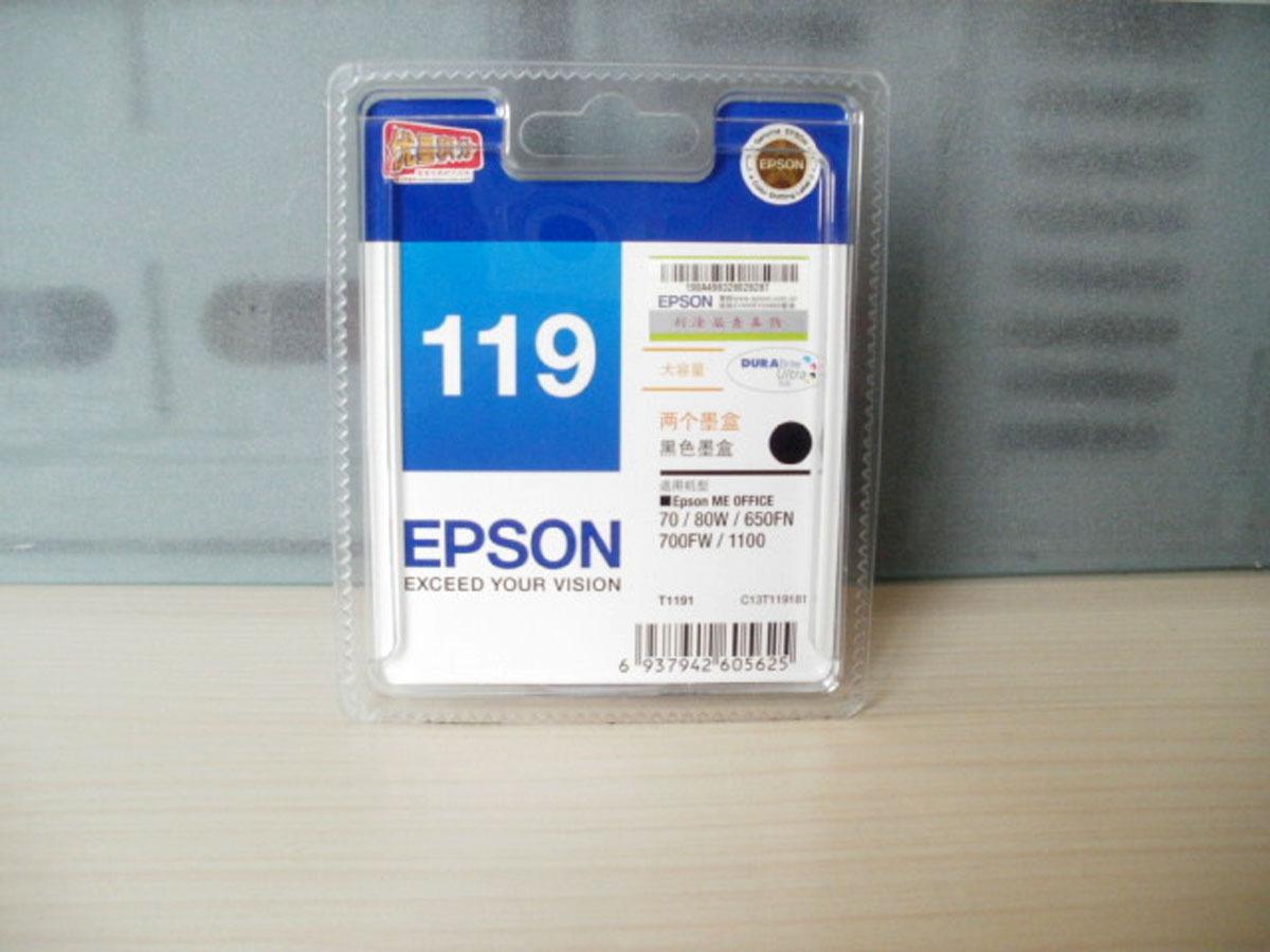 原装爱普生EPSON109正品爱普生123墨盒119黑色墨盒 123彩色墨盒
