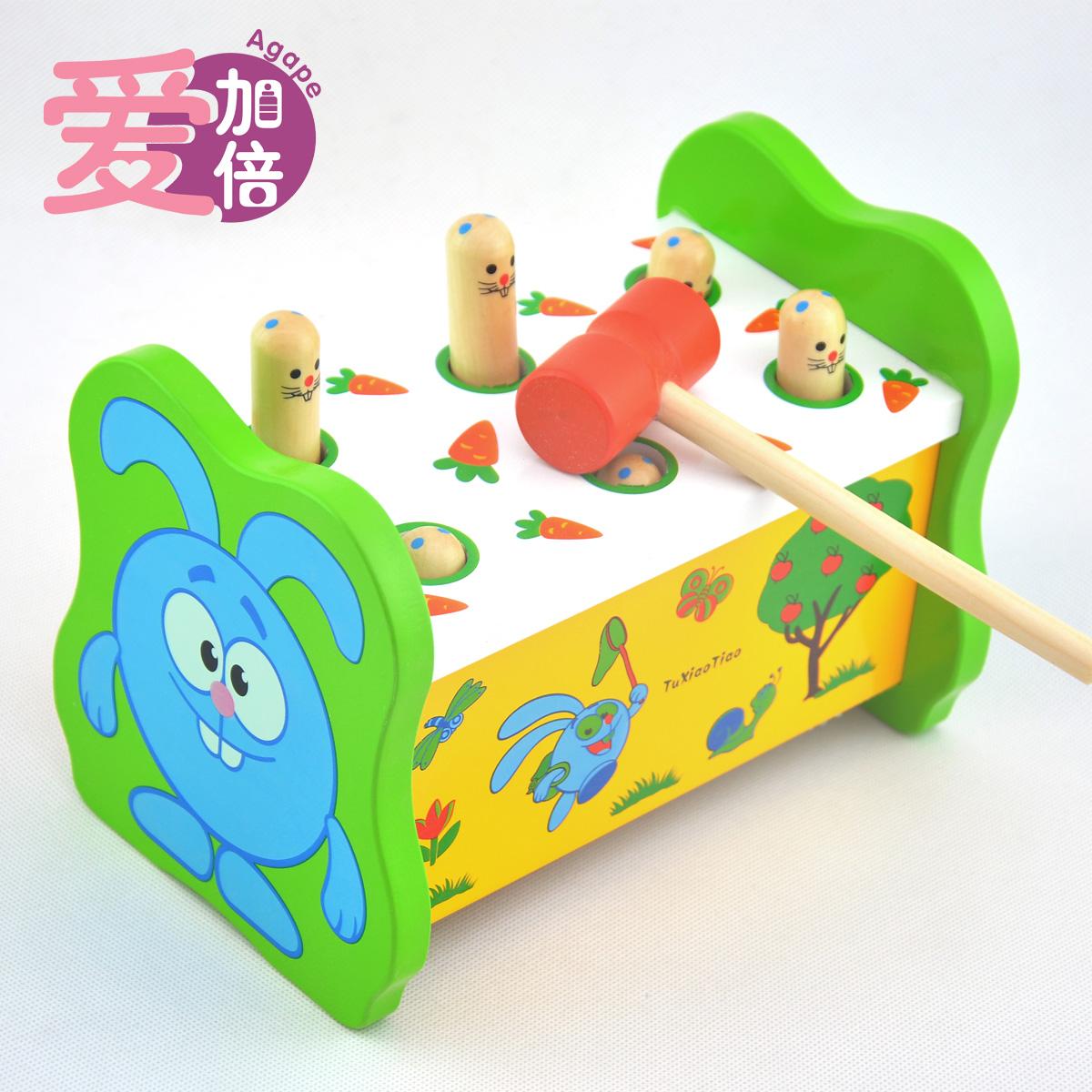 Образовательные игры для детей короля Размер 1-2-3 летний ребенок хомяка игрушка перкуссия деревянные игрушки для детей 1-2 лет