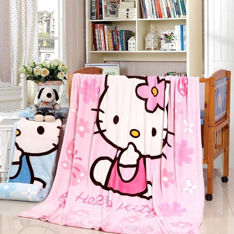 Электронная почта мультфильм Кондиционер одеяло листов HelloKitty губки полотенце одеяло коралловых ватки одеяло фланелевой детское одеяло