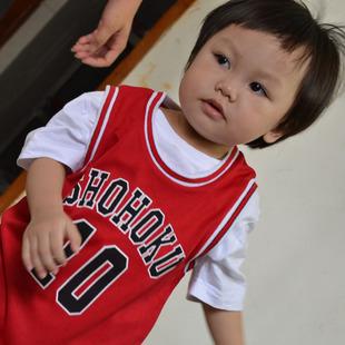 儿童灌篮高手队服童装篮球服湘北10号樱木花道篮球衣背心定做订制