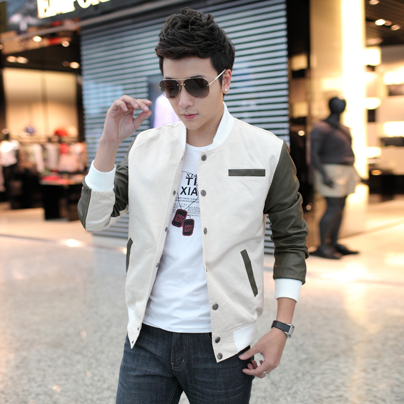 2015 spring and autumn jacket mens Korean version slim trend casual mens clothes spring youth clothes mens thin coat trend