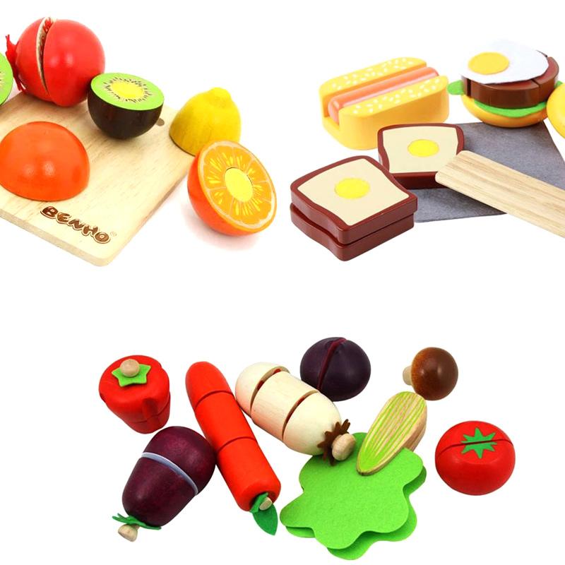 木玩世家切切看水果蔬菜木质磁性切切乐儿童益智玩具1-3岁,可领取3元天猫优惠券