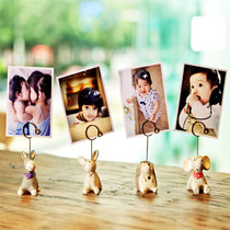 Personality Lomo Card postcard DIY custom creative resin animal photo clip pendant small Gifts