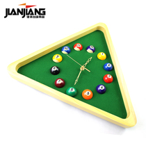 Jianjiang Creative Billiards Clock Ball Club spherical decorative gift Clocks