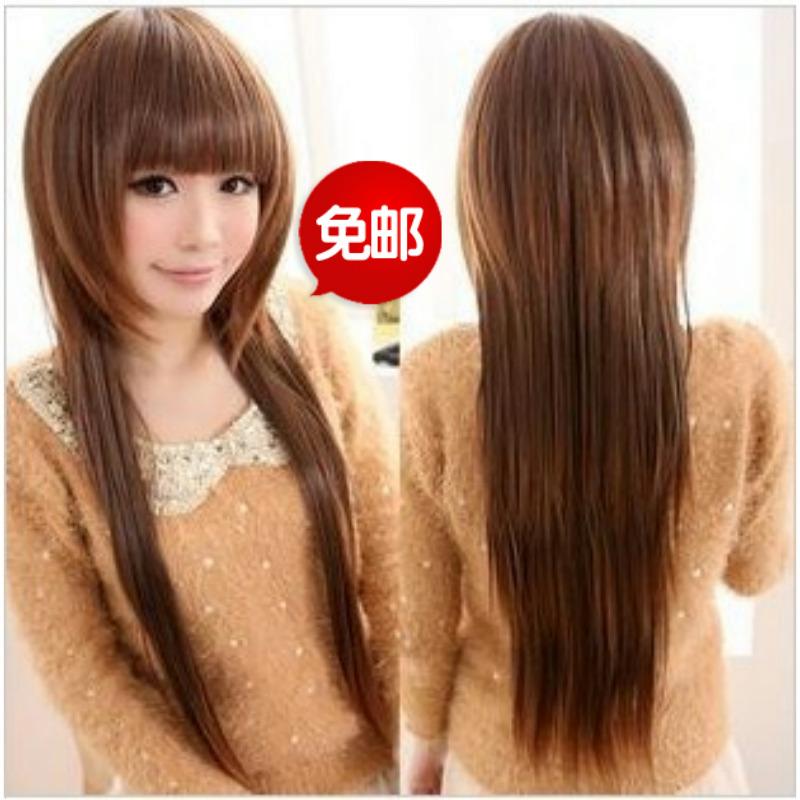 Email Большие волосы парик длинные прямые волосы вьющиеся волосы пушистые бритья темперамент медузы дамы короткие волосы