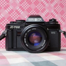 95新 MINOLTA美能达X700+MD50/1.7套机 135胶片单反相机 送收纳袋图片